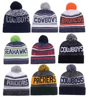 Wholesale Beanie Sports Teams - New Arrival Beanies Hats American Football 32 team Beanies Sports Beanie Knitted Hats drop shippping Snapbacks Hats album offered