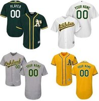 Wholesale Sports Oakland - Oakland Athletics Mlb jersey customized Ryon Healy Khris Davis Sonny Gray sports throwback baseball jerseys cheap fashion men retro youth 4x