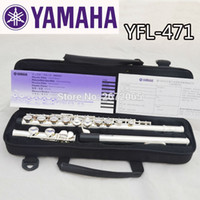 Wholesale Keys Nickel - Wholesale-Free Shipping High Quality Brand New Flute Case Silver YFL-471 Silver Plated 16 Closed Holes C Key Flute With Case Accessories