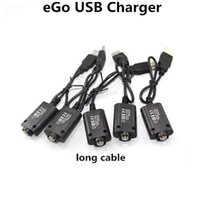 Wholesale Ego T Pen Charger - eGO USB Cable Charger Electronic Cigarettes USB Charger for eGo eGo-T EGO-C EGO-W Vape Pen Dry Herb Vape E-Cigarette eGo 510 Thread Battery