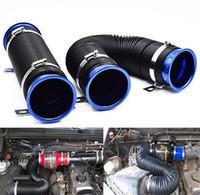 Wholesale Expandable Tube - Turbo car modification supplies telescopic tube ventilation tube intake air pipe 76MM expandable cold air intake kit universal
