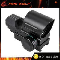 Wholesale Green Airsoft Guns - FIRE WOLF Red Green Dot Rifle Sights Scopes 20mm Mount Rail Hunting Airsoft Air Guns Scope Tactical Optical Riflescope