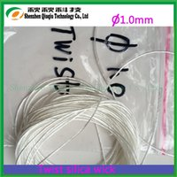 Wholesale E Cigarette Silica Wick - Wholesale- 2014 Great Promotion 1.0mm ekowool Twisted silica wick for E-Cigarettes Rebuildable Atomizer,1KG,free shipping!!
