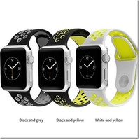 Wholesale Silicon Watch Brand - 2017 brand new Silicon Sports Bands For Apple Watch Strap Silicone Band 42MM 38MM for Apple Watch Sport Version