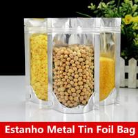 Wholesale heat seal foil bags online - 13x18cm Capacity Big Aluminum Foil Zip Lock Baking Packaging Stand Mylar Bags Smell Saver Laminating Heat Seal Showcase Baking Food Package