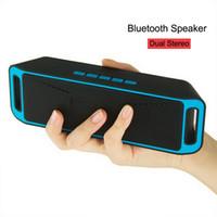 lecteur mp3 a2dp achat en gros de-SC-208 Bluetooth Musique Haut-parleurs sans fil A2DP Haut-parleur Megabass Stéréo Mains Libres Carte TF AUX 3.5mm Subwoofer Lecteur MP3 avec emballage de vente au détail
