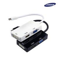 Wholesale Mini Pc Dvi - 3 in 1 Displayport MINI DP to HDMI DVI VGA Converter Adapter Cable for PC Laptop Apple Macbook