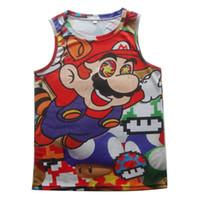 Wholesale Brand Joy - Wholesale- Joy Only 2016 Women Men Cartoon 3D Fashion Super Mario on Shrooms Vest Brand Design Tank Tops Bodybuilding Summer Wear