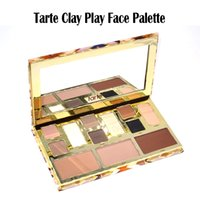 Wholesale Eye Shadow Palette Contour Makeup - Tarte Clay Play Tarte Face Palette Shaping Tarte Eye Shadow Palette 12 Color Natural Sculpting Contour Makeup Kit Collection