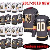 Wholesale Hockey 13 - Custom 2018 Vegas Golden Knights 92 Tomas Nosek 47 Luca Sbisa Jersey 41 Pierre-Edouard Bellemare 13 Brendan Leipsic Deryk Engelland Jerseys
