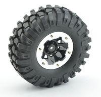 Wholesale Rc Tire Wheels - LNL 4Pcs 1:10 Rc Crawler 108mm Tires 1.9'' Wheel Rim Beadlock for Axial SCX10 D90 RC Rock Crawler Truck
