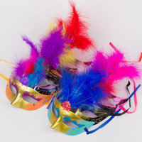 Wholesale purple feathers for hair resale online - The new luminous butterfly face mask hair princess crown Christmas mask Halloween mask dance
