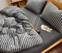 malha tecido cartoon venda por atacado-Tecido de malha hometextile folha de cama quatro peças conjunto de cama queen size 100% tecido de algodão com impressão reativa boa solidez minyang 1810