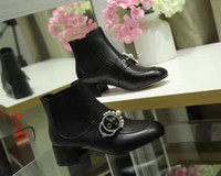 Wein Red Black Pearls Frauen Stiefel Square Toe Ankle Fashion T Show Party Booties Damenschuhe