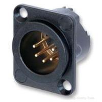 conector xlr de alta calidad al por mayor-KUILONG de alta calidad 100 unids / lote chapado en oro NC3MD-LX NC4MD-LX NC5MD-LX XLR Cannon da pannello / Chassis M XLR conector con 3 pines de oro