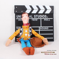 Wholesale Soft Plush Woody Doll - Wholesale-Plush Toy Story Woody Plush Toy Figure Toy Soft Stuffed Doll Girls for Children Boys 5pcs lot Free Shipping 16""