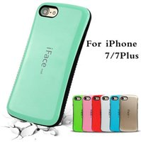 Wholesale Iface Silicon Case - Top sale iFace mall Bicolor wave silicon case For iphone 5 5s plus back shell protector cell phone skin For iphone 6 6s 5s SE
