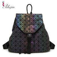 Wholesale Japanese Women Backpack - Wholesale- Pahajim 2017 Japanese Splicing Luminous laser Fashion Backpack Women for Teenage Girls Vintage Backpacks Female