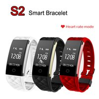 Wholesale Genuine English - Genuine S2 Smart Bracelet Band Wristband Heart Rate Monitor Pedometer Sleep Fitness Bluetooth IP67 Waterproof Smartband for iPhone Android