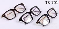 Wholesale Titanium Glass Frames Ladies - 2017 new TB-701 glass frame male ladies retro flat mirror frames myopia framework