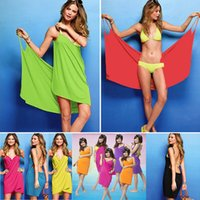 Wholesale Fast Bath - Bath Towel Lady Girl Sexy Wearable Towels Fast Drying Magic Bath Towel Beach Spa Bathrobes Bath Skirt Beach Spa Bathrobes 11 Color WX-T15