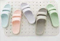 Wholesale Men Plastic Slipper - Bathroom slippers, men and women plastic home, slippers