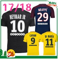Wholesale Soccer Sports Jerseys - 17 18 NEYMAR JR MBAPPE shirt T SILVA CAVANI DI MARIA PASTORE Verratti 2017 2018 neymar jr jersey sports DANI ALVES football soccer jerseys