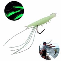 Wholesale glow dark lures for sale - Group buy 5PCS Pack Sabiki Shrimp Rigs Glitter Soft Fishing Lure Glow in the dark Fish Fishing Bait Baits Lure Catch Hook