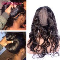 Wholesale Cap Body - Glamorous Brazilian Virgin Hair Body Wave 360 Frontal Closure Peruvian Malaysian Indian Human Hair 360 Frontals Round Lace Closure with cap