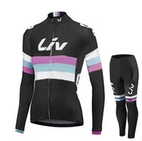 Wholesale Cycling Jersey Pants Women - 2 Styles Liv Team Women's Cycling Jerseys Set  Womens Winter Thermal Fleece Bicycle Clothing Bicycle Clothing Bike Clothes + Pants.