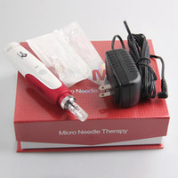 Wholesale color stamps - Electric Derma Pen Stamp Auto Micro Needle Roller Anti Aging Skin Therapy Wand MYM derma pen