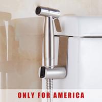 Wholesale Handheld Shattaf Bidet Sprayer - Free shipping Premium Stainless Steel Handheld Bidet Shattaf Sprayer Transform Toilet into Spray Bidet Only For America