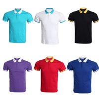 Wholesale Shirt Mens Cotton Polyester - Polo Shirt for Men Desiger Polos Men Cotton T Shirt With Short Sleeve Mens Womens Work Clothes Plus Size M- XXXL ZL3333