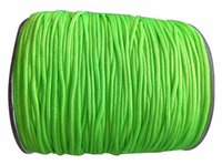 1mm Neon Green Nylon Cord Rattail Stain Braid Cord Macrame Rope Shamballa Pulseira Beading Cordões String Accessories 350m / Roll