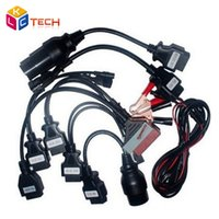 Wholesale Diagnostic Scan Tools For Fiat - Wholesale- 3pcs lot Best Selling OBDII OBD2 Full Set 8 Car Cables Work For TCS CDP Pro Plus Car Cable Diagnostic Scan Tool Interface