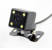 Wholesale rear view car dvr camera online - 100pcs Square Shape DVR Auto Parking Assistance New LED Night Vision Car CCD Rear View Camera Car Video Foldable Monitor Camera170 Degree