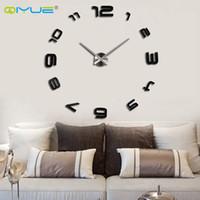 venta al por mayorhogar grandes espejo reloj de pared moderno diseo decorativos grandes