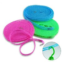 Wholesale Rope Clothesline - ShineTrip 3M 5M Clothesline Outdoor Hiking Camping Non-slip Windproof Cloth Line Nylon Laundry Rope Drying Rope 043