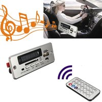 Wholesale Usb Mp3 Module - Red Digital LED Display DC 5v USB TF Radio MP3 Decoder Board Wireless Audio Module for Car With Remote controller