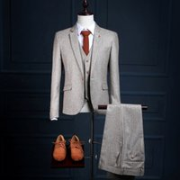 Wholesale 48 Suit Size - Smoking De Novio Tailcoat Latest Design Coat Pant Men Suit Grid Wedding Tuxedos Custom Made To Measure Size 5XL 6XL XH021 Chinese Store