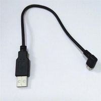 Wholesale Micro Usb Angle Adapter - 25cm USB 2.0 A Male to USB Micro 5Pin Right angle Male adapter Cable Black