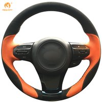 Wholesale Steering Wheel Cover Orange - Mewant Orange Leather Black Suede Car Steering Wheel Cover for Kia K5 Optima 2014 2015