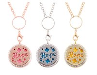 Wholesale Perfume Sets For Women - NEW Fashion Retro Jewelry Hope wish Hollow DIY Perfume dispenser lockets Pendants Necklaces For women Charm necklace