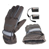Wholesale Electric Heat Gloves - Wholesale- HOT! USB Heating Gloves,Electric Rechargeable Heated Gloves,2000mAh Battery Winter Warm Ski Outdoor Sport Gloves Up to 4 Hours
