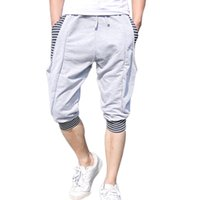 Wholesale Knee Breeches - Wholesale-free shipping 2016 summer new harem shorts men's lovers seven shorts trousers breeches tide size M-2XL 30 XYQ