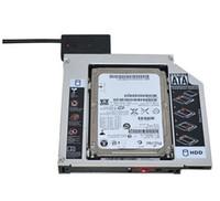 sata hdd ssd caddy toptan satış-Evrensel Alüminyum 2nd HDD Caddy 12.7mm SATA 3.0 DVD HDD Adaptörü için 2.5 '' 7/9 / 9.5 / 12.5mm SSD HDD Durumda Muhafaza CD-ROM Optibay