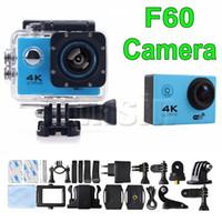 F60 WIFI Waterproof Sport Video Camera Port USB Action Camera ultra HD caméra vidéo 4K 16MP / 12mp pour Helmet Cam Diving Surfing Record