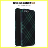 Wholesale Phone Cloth Case - New Fashion For iphone 7 6s Lattice Cloth British Wind Phone Case Protective TPU Thin Case via Free Shipping