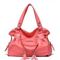 Wholesale Ladies Office Totes - Fashion Designer Women Handbag Female PU Leather Bags Handbags Ladies Portable tassel Shoulder Bag Office Ladies Hobos Bag Totes