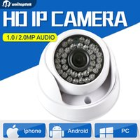 Wholesale Ip Dome Audio - 720P 1080P Dome HD CMOS 1MP 2MP IP Camera Audio Security CCTV Camera Optional IR 20m 3.6mm Lens IR-Cut Indoor Use Onvif